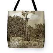 Hill Country Windmill Tote Bag