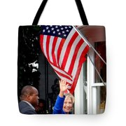 Hillary Clinton Tote Bag by Ed Weidman
