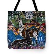 Hills Alive With Llamas Tote Bag