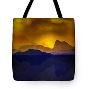 Hills In The Distance At Sunset Tote Bag