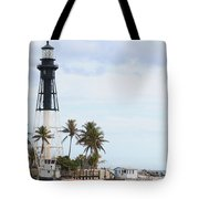 Hillsboro Lighthouse In Florida Tote Bag