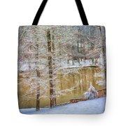 Hillside Snow - Winter Landscape Tote Bag