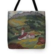 Hilltop Village Switzerland Tote Bag