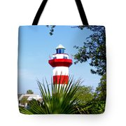 Hilton Head Lighthouse And Palmetto Tote Bag