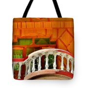 A Beautiful Balcony - Himalaya India Tote Bag