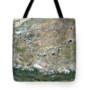 Himalaya Mountains Asia True Colour Satellite Image  Tote Bag