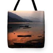 Phewa Lake, Pokhara, Nepal Tote Bag