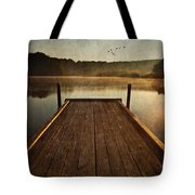 Hinckley Lake Sunrise Tote Bag