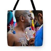 Hindu Devotees Prepare For Thaipusam Festival Singapore Tote Bag