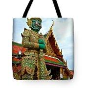 Hindu Figure At Grand Palace Of Thailand In Bangkok Tote Bag