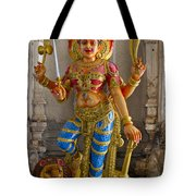 Hindu Goddess Durga On Lion Tote Bag