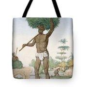 Hindu Servant Cutting Grass, The Tote Bag