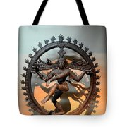 Hindu Statue Of Shiva In Nataraja Dance Pose Tote Bag