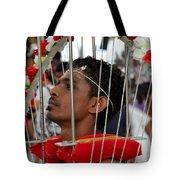 Hindu Thaipusam Festival Pierced Devotee In Singapore Tote Bag