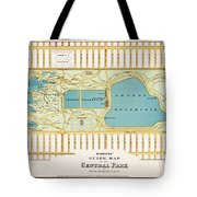 Hinrichs Guide To Central Park 1875 Tote Bag