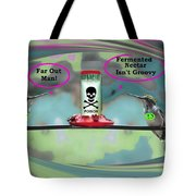 Hippie Hummer Tote Bag