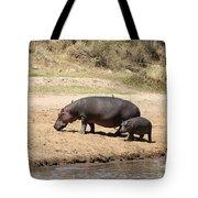 Hippo Mum And Calf Tote Bag