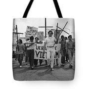 Hispanic Anti-viet Nam War March Tucson Arizona 1971 Black And White Tote Bag