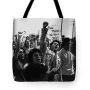 Hispanic Anti-viet Nam War Rally Tucson Arizona 1971 Black And White Tote Bag
