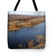 Historic Alaska Gold Dredge In Fall Tote Bag