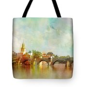 Historic Centre Of Prague  Tote Bag by Catf