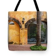 Historic Colonial Courtyard In Colombia Tote Bag
