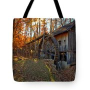 Historic Grist Mill With Fall Foliage Tote Bag