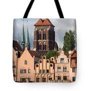 Historic Houses In Gdansk Tote Bag