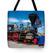 Historic Jupiter Steam Locomotive - Promontory Point Tote Bag by Gary Whitton