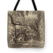Historic Lane Antique Sepia Tote Bag