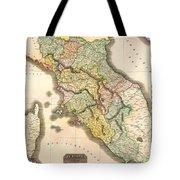 Historic Map Of Tuscany 1814 Tote Bag