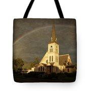 Historic Methodist Church In Rainbow Light Tote Bag