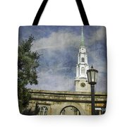 Historic Savannah Church Tote Bag