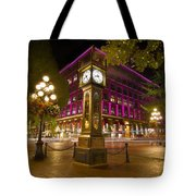 Historic Steam Clock In Gastown Vancouver Bc Tote Bag