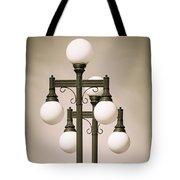 Historic Ybor Lamp Posts Tote Bag