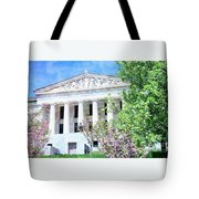 Historical Museum In Spring Tote Bag
