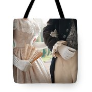 Historical Couple Arm In Arm Tote Bag