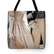Historical Couple Linking Arms Tote Bag