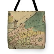 Historical Manhattan Map 1728 Tote Bag