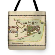 Historical Map Of Manhattan 1661 Tote Bag
