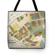 Historical Map Of Manhattan Tote Bag