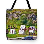Historical Reenactment Near Visitor's Center In Signal Hill National Historic Site In St. John's-nl Tote Bag