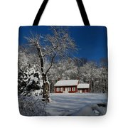 Historical Society House In The Snow Tote Bag