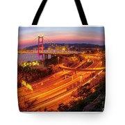Hk Bridge Tote Bag