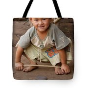 Hmong Boy Tote Bag by Adam Romanowicz