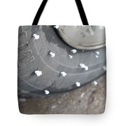 Hoarfrost On Tire Tote Bag