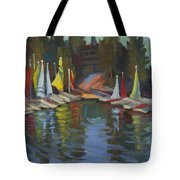 Hobie Cats At Lake Arrowhead Tote Bag