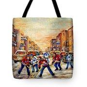 Hockey Daze Tote Bag by Carole Spandau