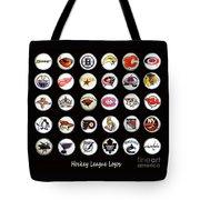 Hockey League Logos Bottle Caps Tote Bag