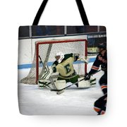 Hockey Off The Handle Tote Bag